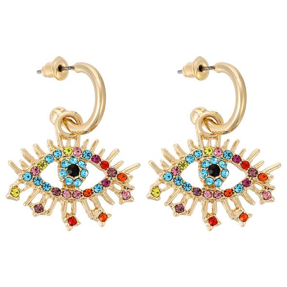 Creolen - Multicolor Eye