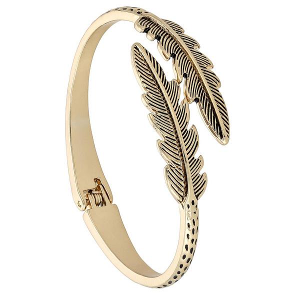 Armreif - Golden Feather