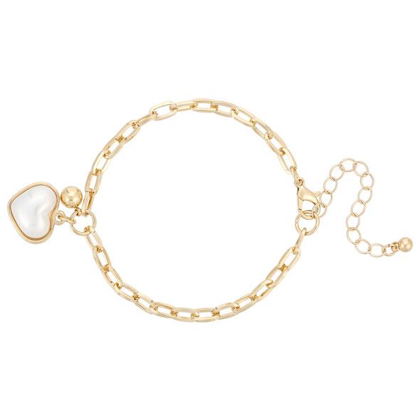 Armband mit Anhänger - Heart Pearl