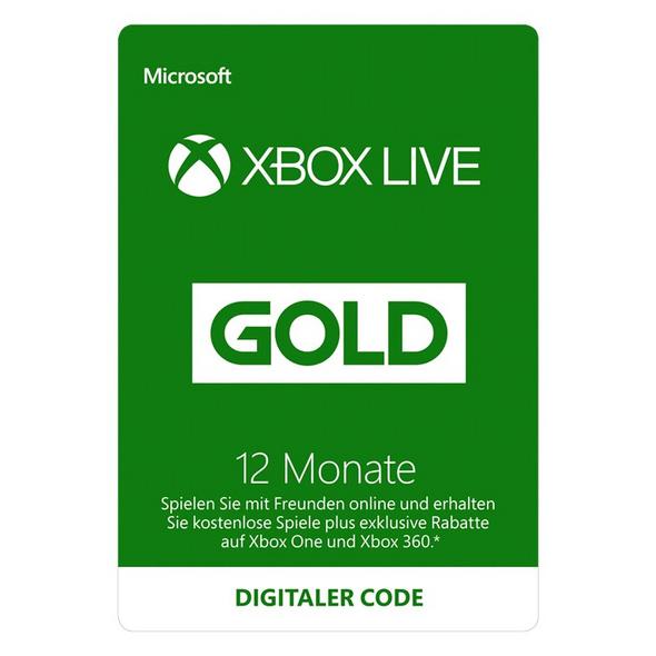 Xbox Live Gold Mitgliedschaft 12 Monate [Code-DE]