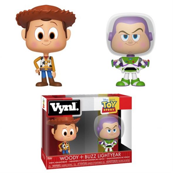 Toy Story - Vynl Figur Woody + Buzz Lightyear