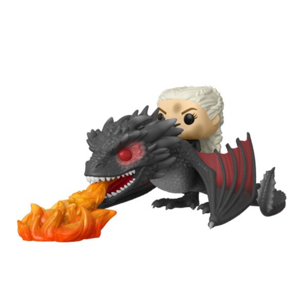 Game of Thrones - POP!-Vinyl Figur Daenerys auf Feuerspeienden Drogon