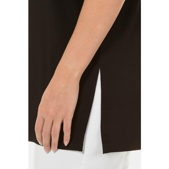 T-Shirt, Seitenschlitze, Relaxed, Elasthan, selection