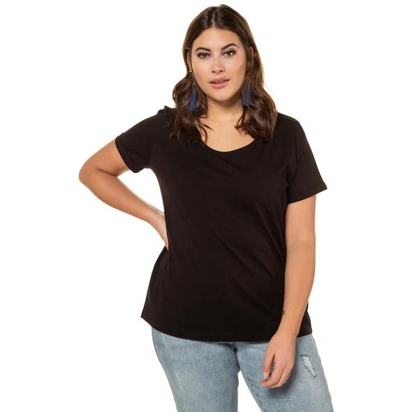 T-Shirt, weiter Rundhalsausschnitt, Halbarm