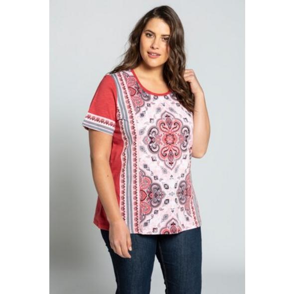 Ulla Popken T-Shirt, Mandalamuster, Classic, reine Baumwolle - Große Größen