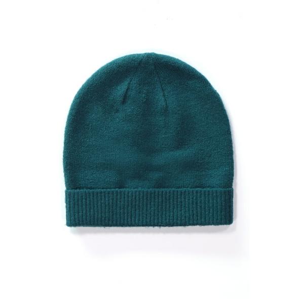 Mütze, breite Krempe, weicher Strick
