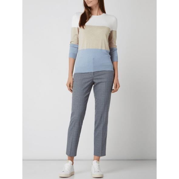 Pullover mit Blockstreifenmuster