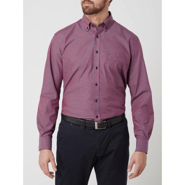 Comfort Fit Business-Hemd mit Vichy Karo