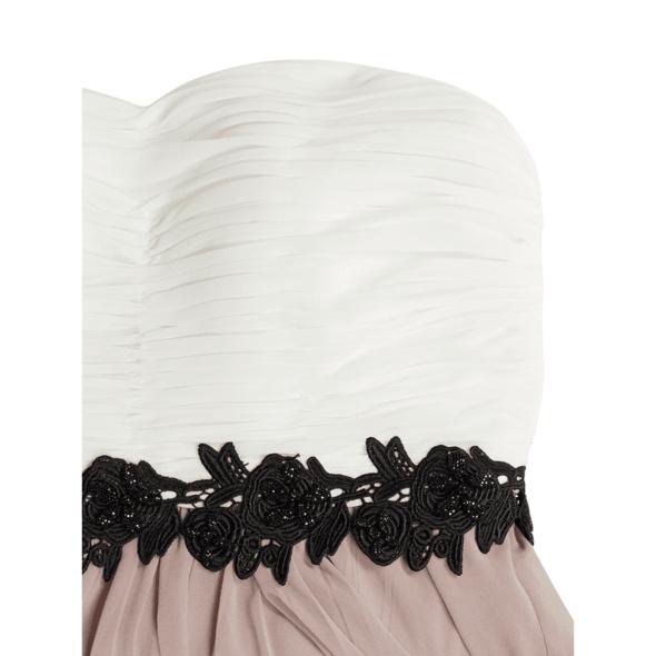 Corsagenkleid aus Chiffon mit Zierborte