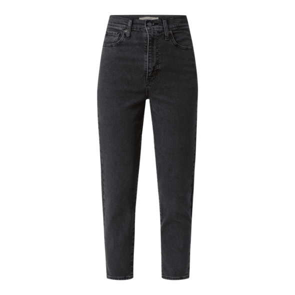 High Waist Tapered Fit Jeans mit Stretch-Anteil