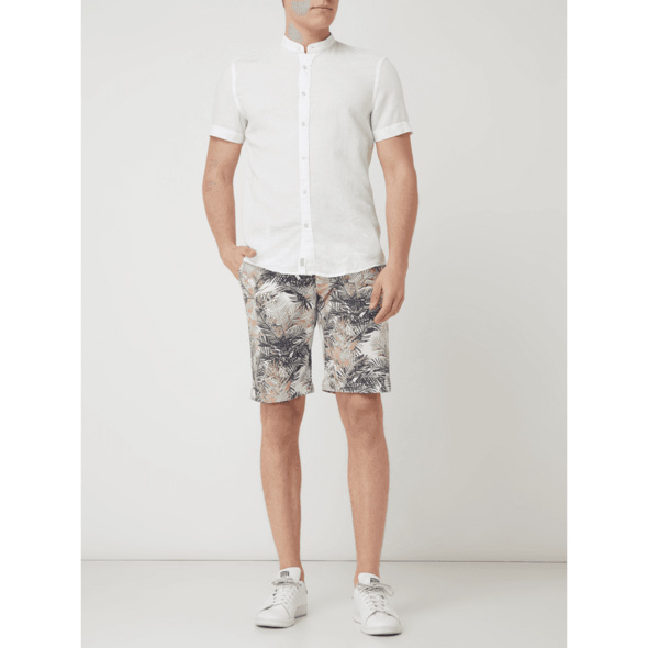 Slim Fit Leinenhemd Modell 'Ivo'