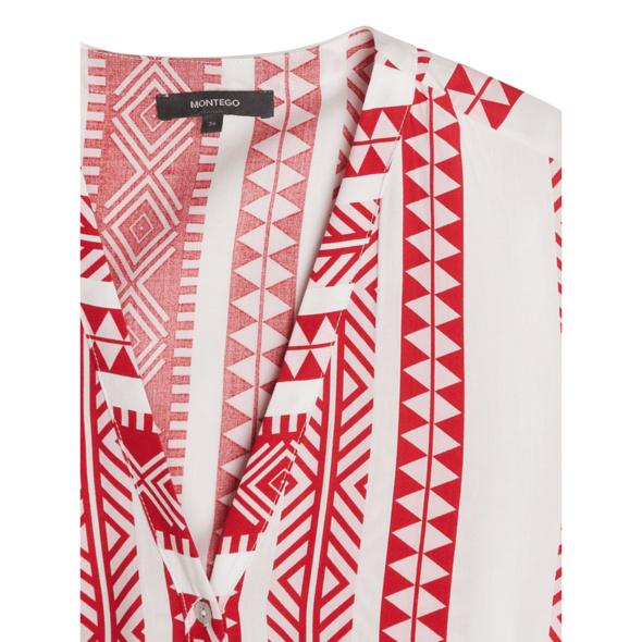 Kleid mit Kufiya-Muster