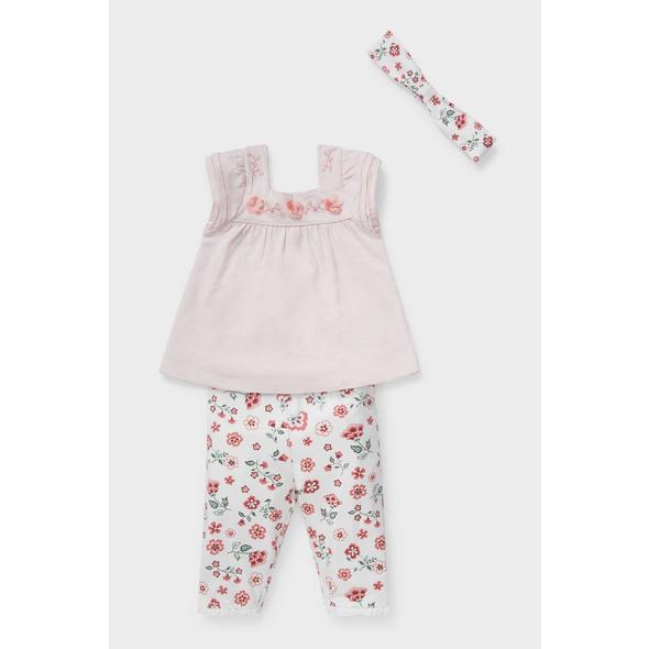 Baby-Outfit - Bio-Baumwolle - 3 teilig