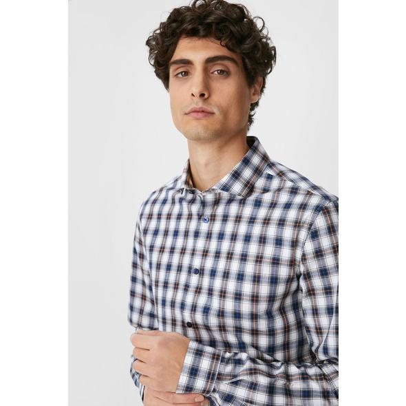 Businesshemd - Slim Fit - Cutaway - extra lange Ärmel