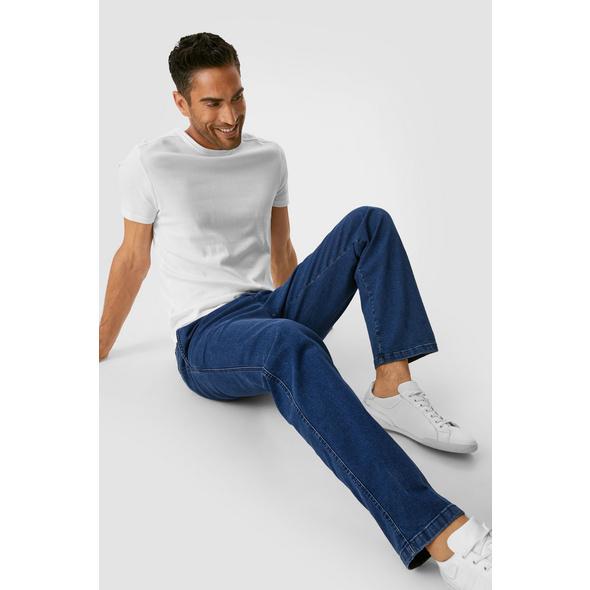 Jeans mit Bundfalten - Regular Fit - Stretch