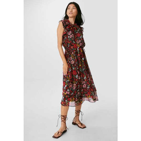 Fit & Flare Kleid - recycelt - geblümt