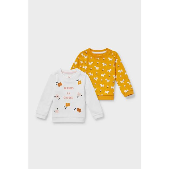 Multipack 2er - Baby-Sweatshirt - Bio-Baumwolle