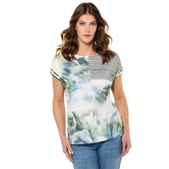 T-Shirt, vorne doppellagig, Rücken Ringeljersey