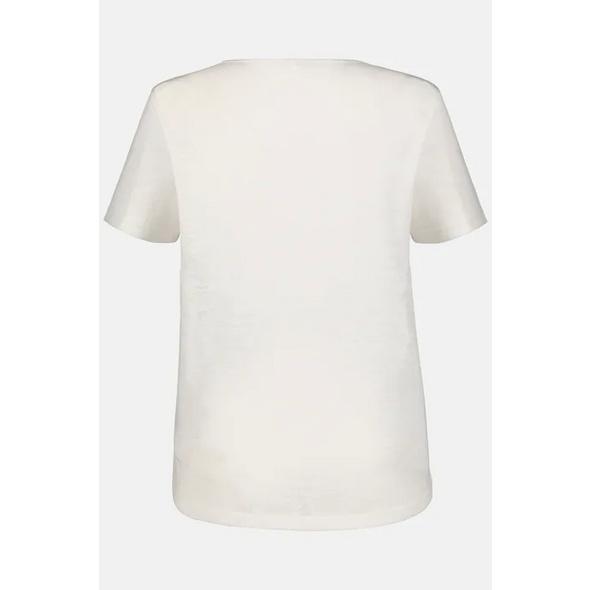 T-Shirt, vorne Zackenmuster, Perlen, Aurbrennerjersey