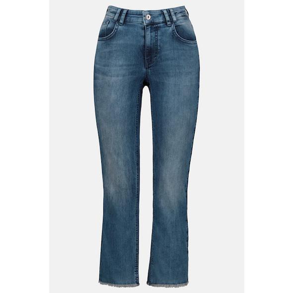 7/8-Jeans Julia, ausgestellter Saum, knöchellang
