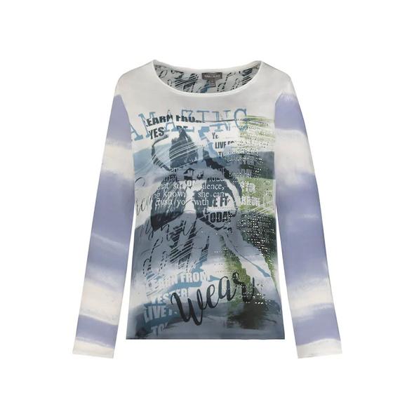 Shirt, Aquarell-Muster, Web-Front, Langarm