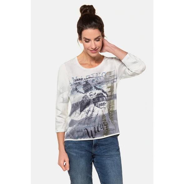 Gina Laura Shirt, Aquarell-Muster, Web-Front, Langarm