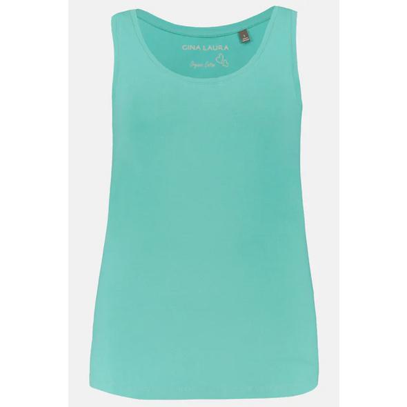 Basic-Top, körpernahe Passform, elastischer Jersey