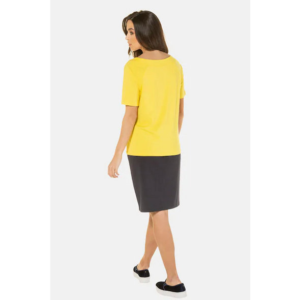 Shirt, weiter Ausschnitt, Raglan-Halbarm