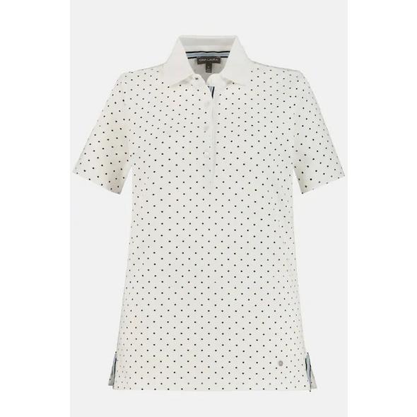 Poloshirt, gepunktet, Farbkanten, Halbarm