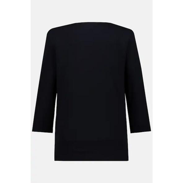 Basic-Shirt, 3/4-Arm, elastischer Jersey