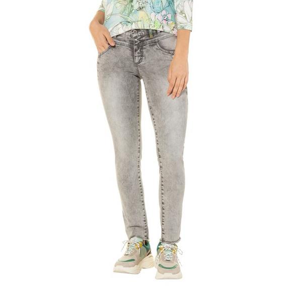 Jeans Tina, Fransensaum, Innendruck, gerades Bein