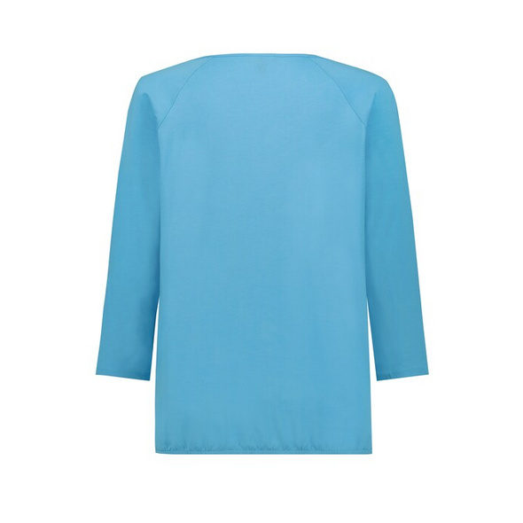 Shirt, elastischer Saum, Oversized, 3/4-Arm