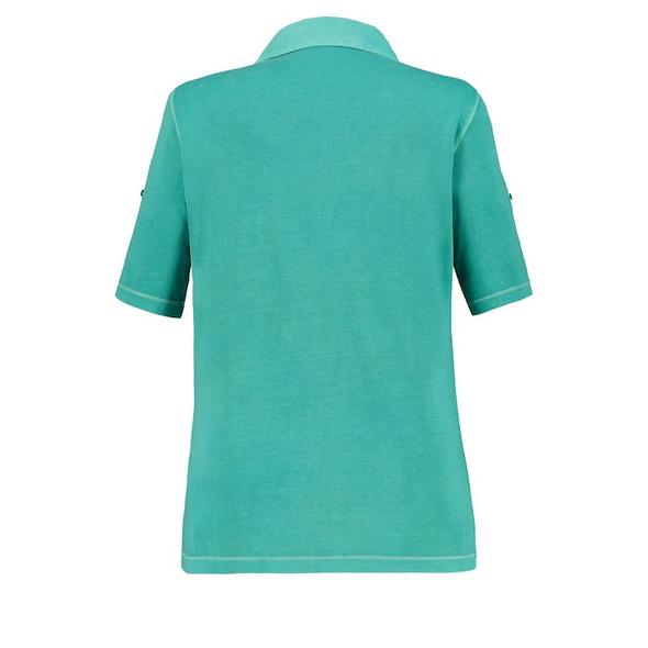 Poloshirt, cool dyed, Webkragen, Halbarm