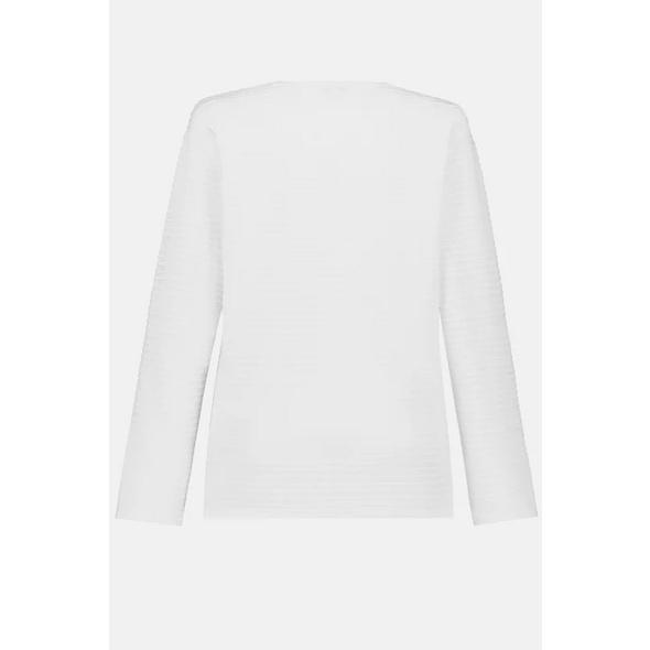Sweatshirt, Rippstruktur, diagonale Ziernaht