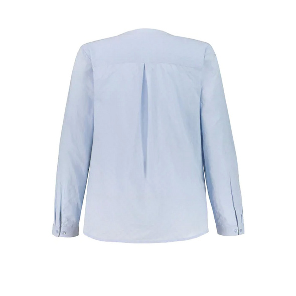 Bluse, Jacquard-Qualität, Stehkragen, Krempelriegel
