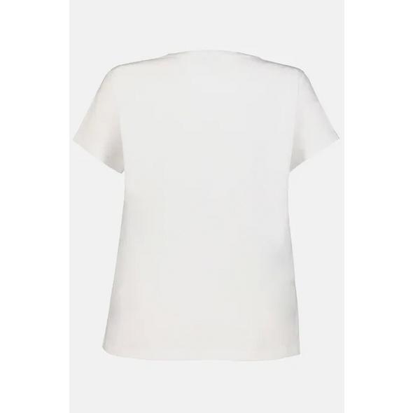 T-Shirt, Schulter-Zierknöpfe, Biobaumwolle