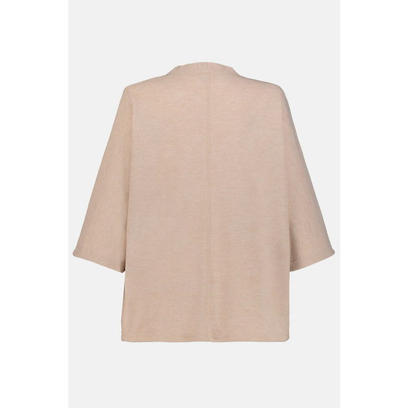Sweatjacke, kurze Kimonoform, breite 3/4-Ärmel