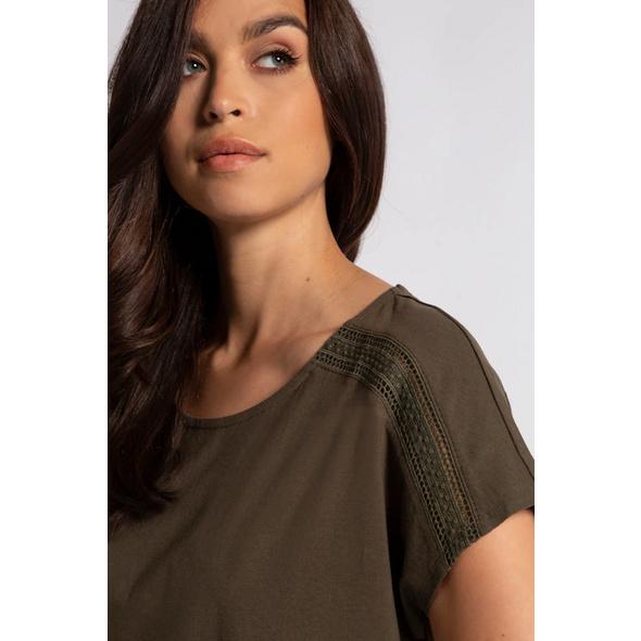 T-Shirt, Nacken-Zierbänder, Litzenborten