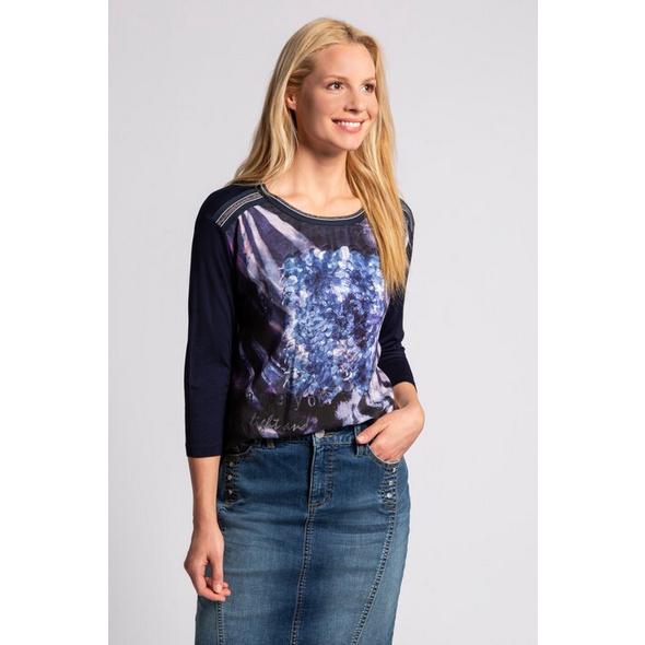 Gina Laura Shirt, Paillettendruck, Jerseyrücken, 3/4-Arm