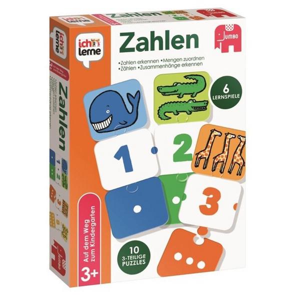 Jumbo 19547 - Ich lerne Zahlen, 6 Lernspiele, Puzzle-Spaß