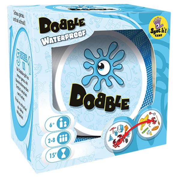 Asmodee ASMD0034 - Dobble Waterproof, Reaktionsspiel