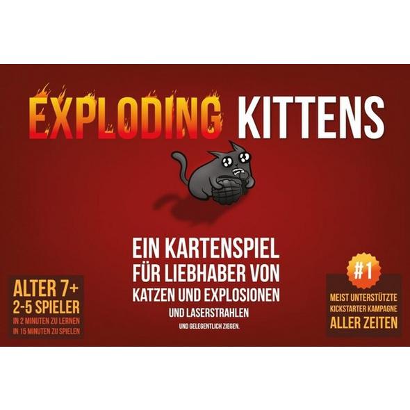 Asmodee ASMD0007 - Exploding Kittens, Strategiespiel