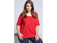 T-Shirt, Carree Ausschnitt, Halbarm, Spitze, Biobaumwolle