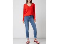 Skinny Fit Jeans mit Label-Patch