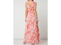 Abendkleid aus Chiffon mit floralem Muster