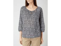 Blusenshirt aus Baumwolle mit Leopardenmuster