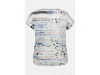 T-Shirt, Metallic-Druck, Ausbrennerjersey