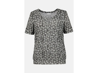 T-Shirt, grafisches Muster, Gummisaum, Ausbrennerjersey