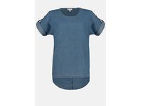 Jeans-Tunika, Saum-Druckknöpfe hinten, Oversized