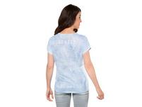 T-Shirt, Ringel/Schrift, vorne Früchte, oversized